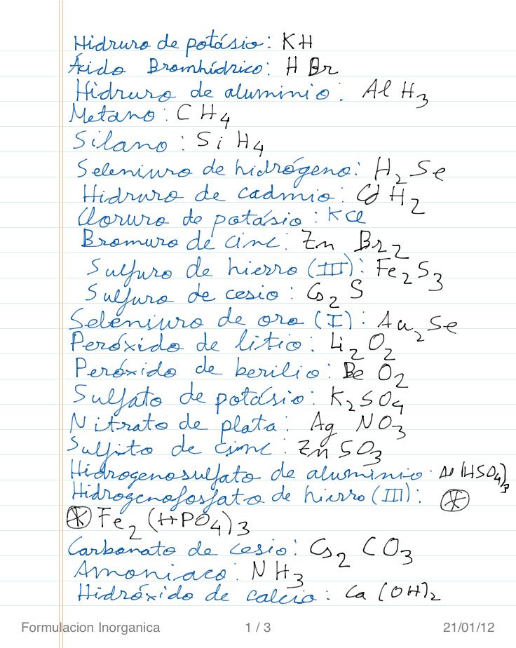 Formulación y nomenclatura inorgánica | Bienvenidos a Descubrirlaquimica