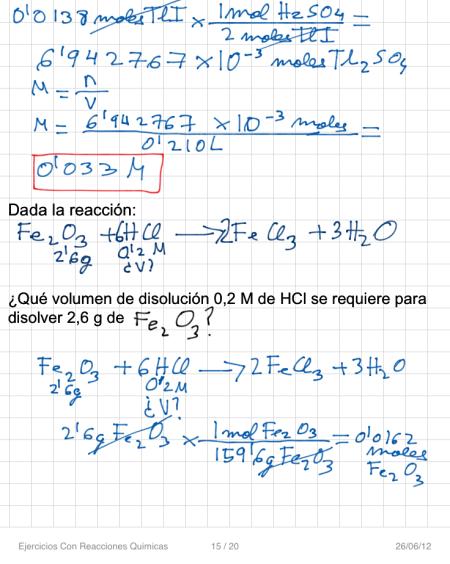 Ejercicios Con Reacciones Quimicas P15