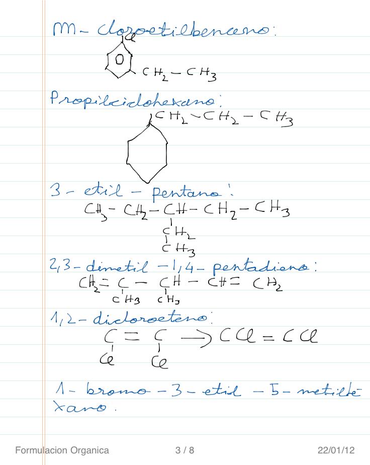 Formulas Quimicas Organicas Ejercicios de Química Orgánica