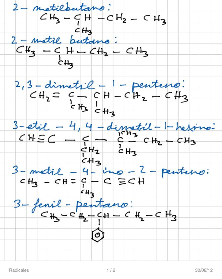 Formulacin y nomenclatura de la qumica orgnica bienvenidos a radicales p2 urtaz Choice Image