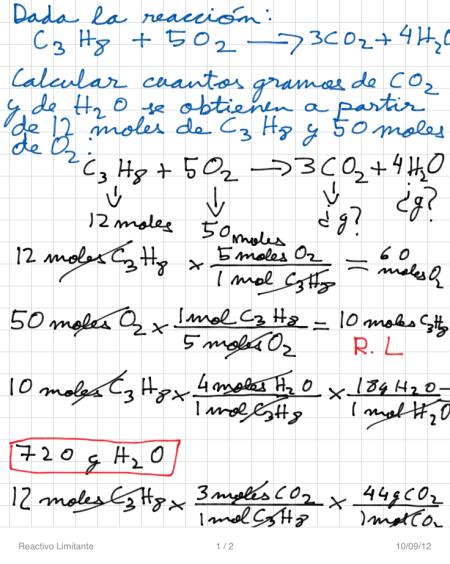 Reactivo Limitante P1