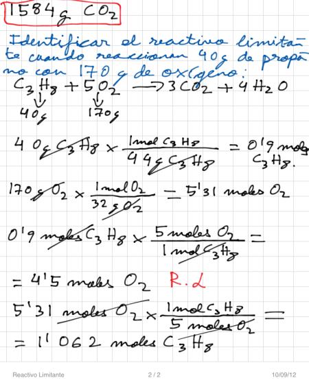 Reactivo Limitante P2