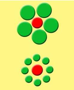 ilusion optica círculos