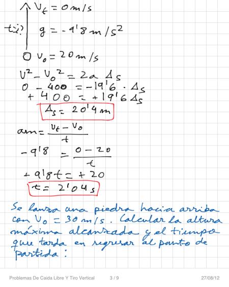 Problemas De Caida Libre Y Tiro Vertical P3