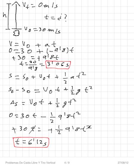 Problemas De Caida Libre Y Tiro Vertical P4