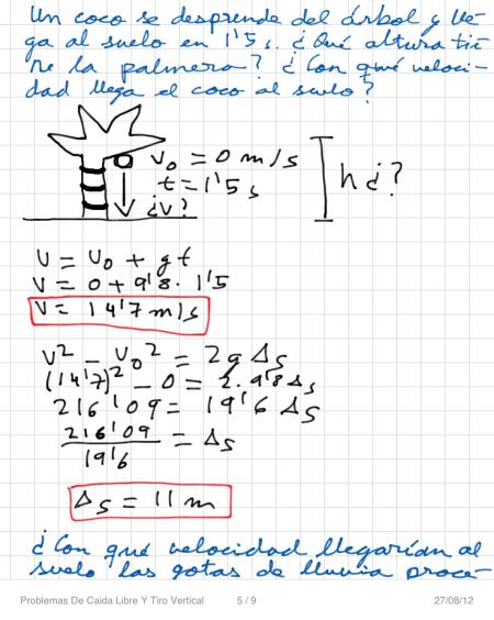 Problemas De Caida Libre Y Tiro Vertical P5