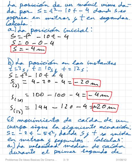 Problemas De Ideas Basicas De Cinematica P3