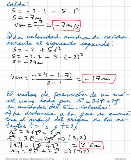 Problemas De Ideas Basicas De Cinematica P4
