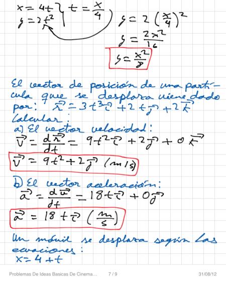 Problemas De Ideas Basicas De Cinematica P7