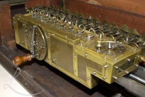 máquina de calcular de liebniz