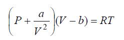 ecuación de van der walls
